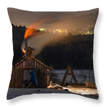 Sugaring View Throw Pillow