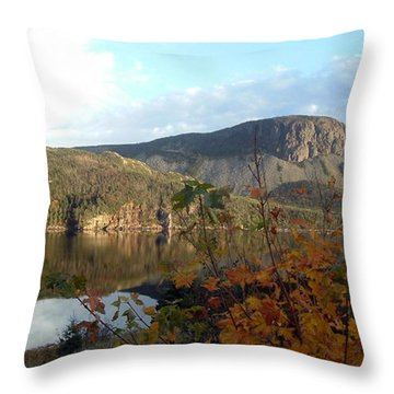 Sugarloaf Hill In Autumn Throw Pillow by Barbara Griffin