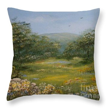Sugarloaf Meadow Throw Pillow