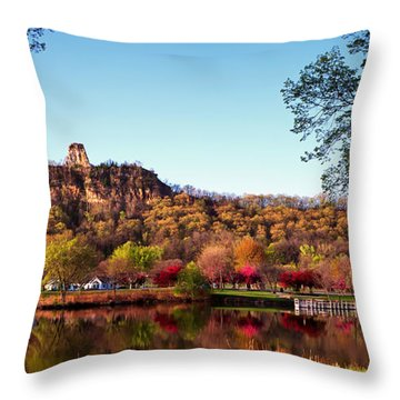 Sugarloaf Reflection Throw Pillow