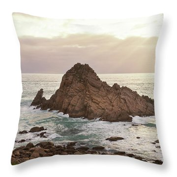Throw Pillow featuring the photograph Sugarloaf Rock Sunset by Ivy Ho