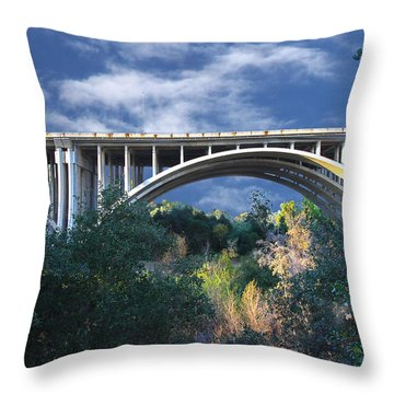 Suicide Bridge 2 Throw Pillow by Robert Hebert