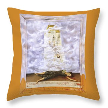 Suicide Of Dorothy Hale Throw Pillow by Frida Kahlo