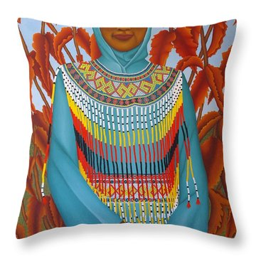 Sulawesi Girl Throw Pillow by Brian Leverton