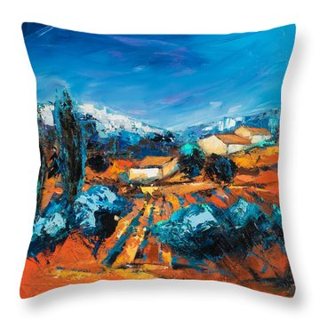 Sulla Collina Throw Pillow