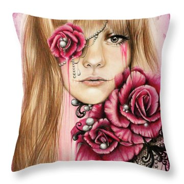 Sullenly Sweet  Throw Pillow by Sheena Pike