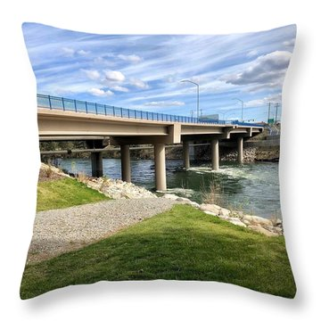 Sullivan Bridge Spokane Valley Wa Throw Pillow