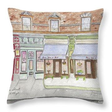 Sullivan Street In Soho Throw Pillow