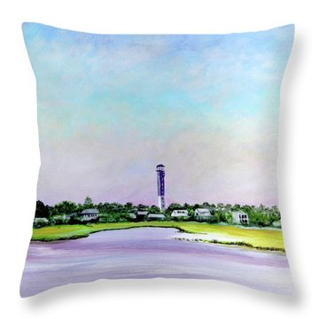 Sullivans Island Lighthouse Throw Pillow
