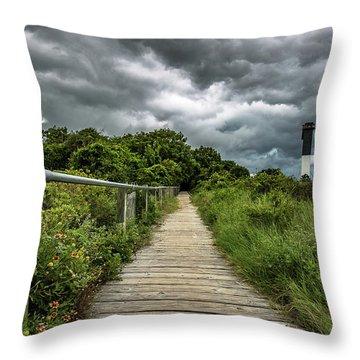 Sullivan's Island Summer Storm Clouds Throw Pillow