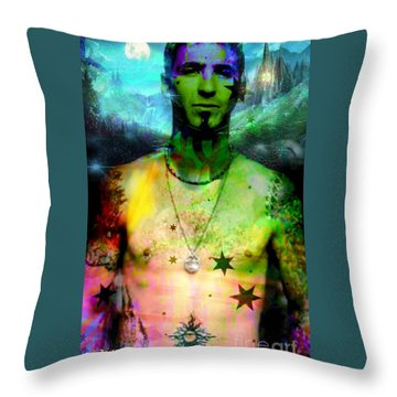 Sully Erna Throw Pillow by Diana Riukas