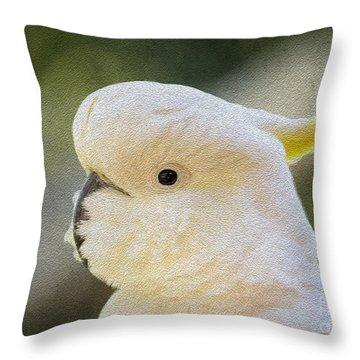 Sulphur Crested Cockatoo Throw Pillow by Avalon Fine Art Photography