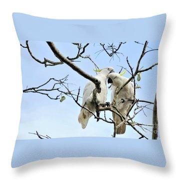 Sulphur Crested Cockatoos Throw Pillow