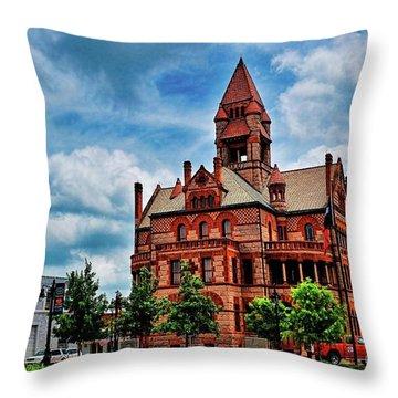 Sulphur Springs Courthouse Throw Pillow