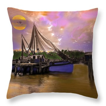 Sultry Bayou Throw Pillow