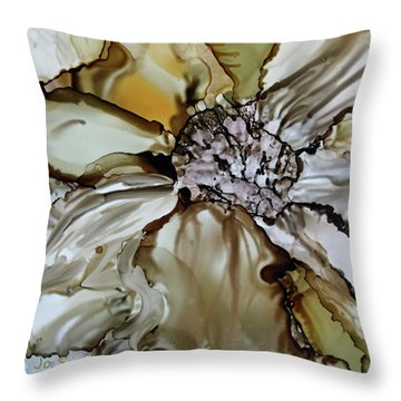 Throw Pillow featuring the painting Sultry Petals by Joanne Smoley