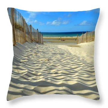 Sultry September Beach Throw Pillow