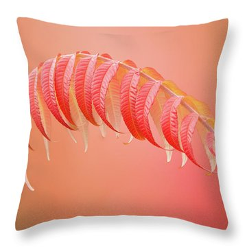 Sumac Branch Throw Pillow