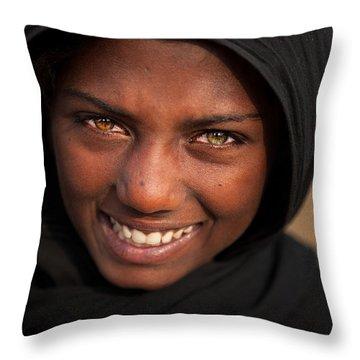 Suman Smile Throw Pillow