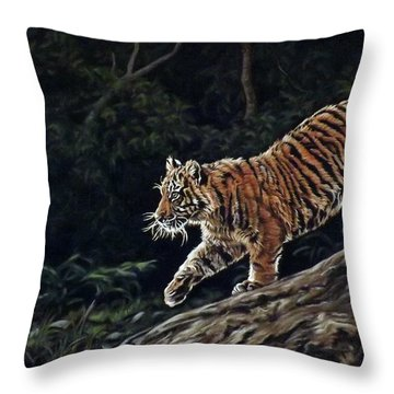 Sumatran Cub Throw Pillow