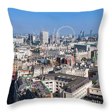 Sumer Panorama Of London Throw Pillow