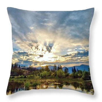 Sumer Solstice Sunrise Throw Pillow