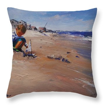 Summer 2016 Throw Pillow by Laura Lee Zanghetti