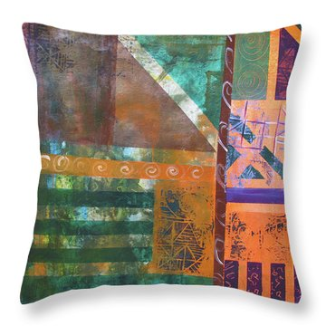 Summer Abstract Throw Pillow by Riana Van Staden