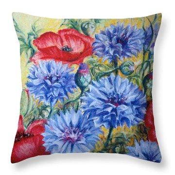 Summer Abundance Throw Pillow