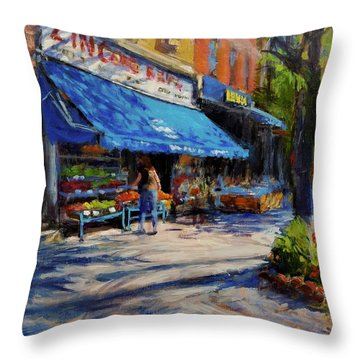 Summer Afternoon, Columbus Avenue Throw Pillow