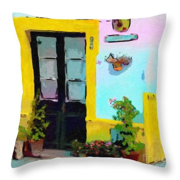 Summer Air Throw Pillow by Dee Flouton