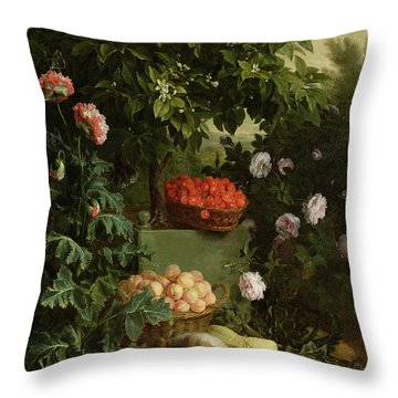 Summer Throw Pillow by Alexandre-Francois Desportes