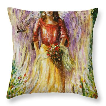 Summer Angel Throw Pillow