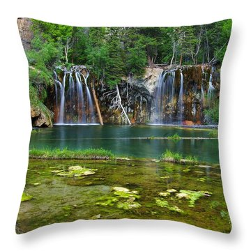Summer At Hanging Lake Throw Pillow by Matt Helm