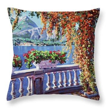 Summer At Lake Como Throw Pillow