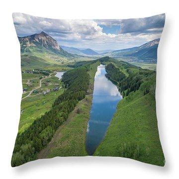Summer At Long Lake  Throw Pillow