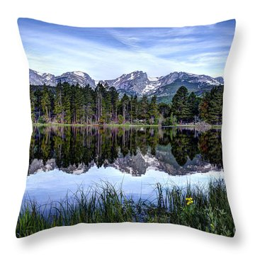 Summer At Sprague Lake  Throw Pillow by Jean Hutchison