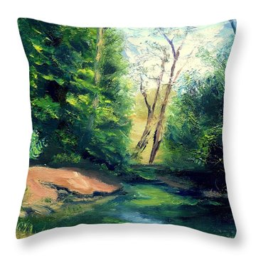 Summer At Storm Throw Pillow