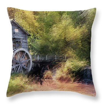 Summer At The Mill Throw Pillow
