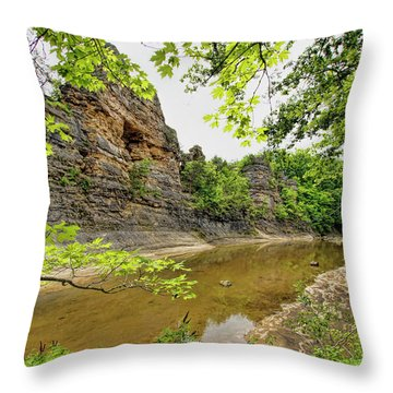 Throw Pillow featuring the photograph Summer At The Pinnacles by Cricket Hackmann