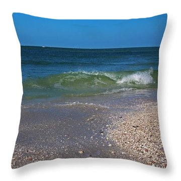 Throw Pillow featuring the photograph Summer At The Shore by Michiale Schneider
