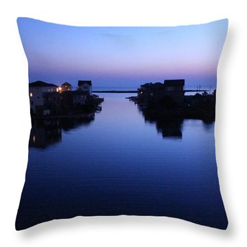 Summer Avon Evening Throw Pillow by Tony Cooper