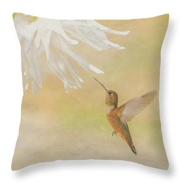 Throw Pillow featuring the photograph Summer Ballet by Angie Vogel