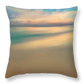 Summer Beach Day  Throw Pillow by Anthony Fishburne