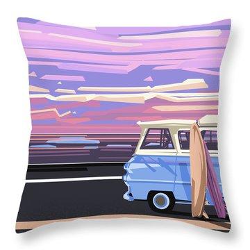 Summer Throw Pillow by Bekim Art