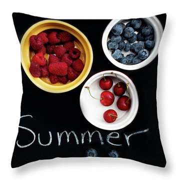 Throw Pillow featuring the photograph Summer Berries by Rebecca Cozart