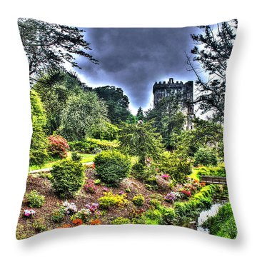 Summer Blarney Garden Throw Pillow