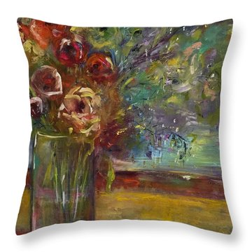 Summer Blooms Throw Pillow by Gail Butters Cohen