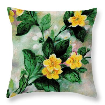 Summer Blooms Throw Pillow