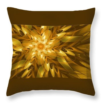 Throw Pillow featuring the digital art Summer Blossoms by Linda Whiteside